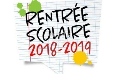 Dates de rentrée – année scolaire 2018-2019